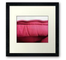 Pink zipper Framed Print