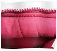 Pink zipper Poster