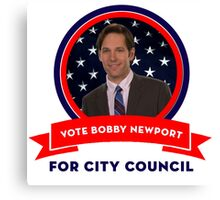 Vote Bobby Newport - Parks And Recreation Canvas Print