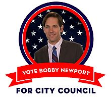 Vote Bobby Newport - Parks And Recreation Photographic Print