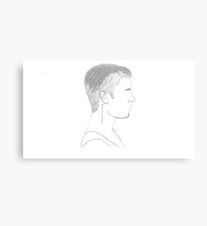 Justin Bieber Profile Canvas Print