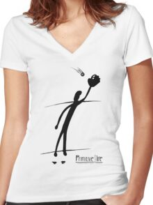 Baseball Snag Women's Fitted V-Neck T-Shirt
