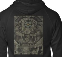 """Burning the Outer Circle"" Zipped Hoodie"