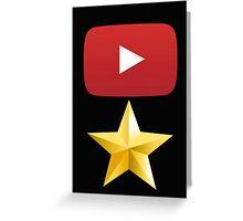 youtube star Greeting Card