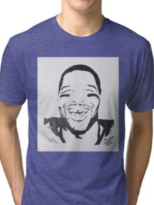 Michael Strahan Portrait Tri-blend T-Shirt