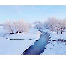 Pretty Winter Stream Photographic Print