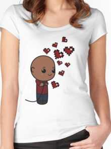 Love Is Cooperative P4 Women's Fitted Scoop T-Shirt