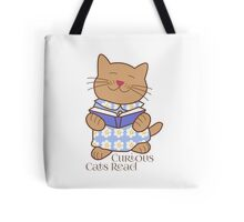 Curious Cats Read Tote Bag