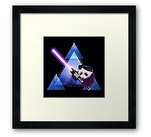 Galactic Panda With Lightsaber Framed Print