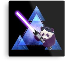 Galactic Panda With Lightsaber Metal Print