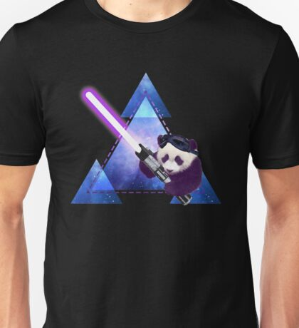 Galactic Panda With Lightsaber Unisex T-Shirt