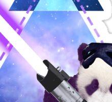 Galactic Panda With Lightsaber Sticker