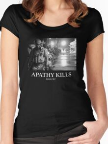 Apathy Kills Women's Fitted Scoop T-Shirt