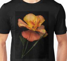 Silky peach coloured Californian Poppy Unisex T-Shirt