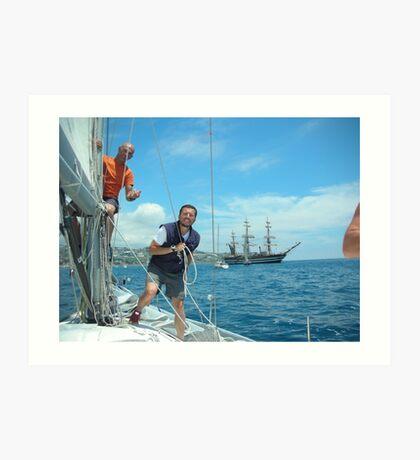To my nephew Roger. To all those who love sailing. Velisti non solo per caso. S.TROPEZ-Francia.-- 5000 visualizzaz settembre  2013-RB EXPLORE 22 DICEMBRE 2011.... Art Print