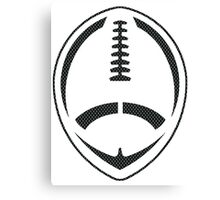 Vector Football - Mesh (Black) Canvas Print