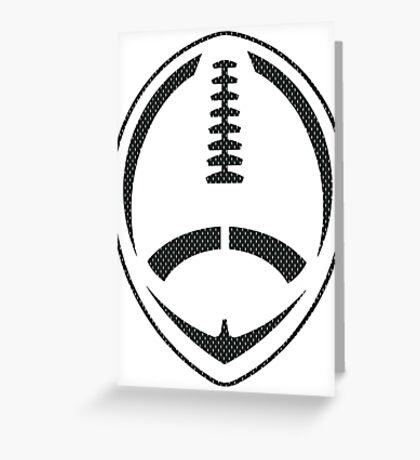 Vector Football - Mesh (Black) Greeting Card
