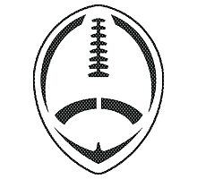 Vector Football - Mesh (Black) Photographic Print