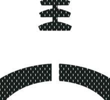Vector Football - Mesh (Black) Sticker