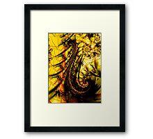 Yellow Symbol Art Design Framed Print