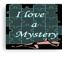 I Love a Mystery Puzzle Canvas Print