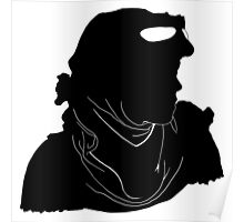 """Rey """"The Scavenger"""" Silhoutte (Black) Poster"""