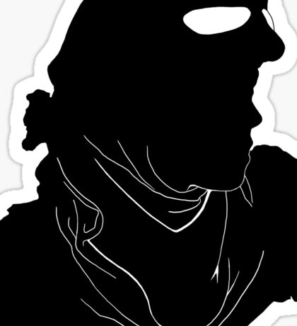 "Rey ""The Scavenger"" Silhoutte (Black) Sticker"