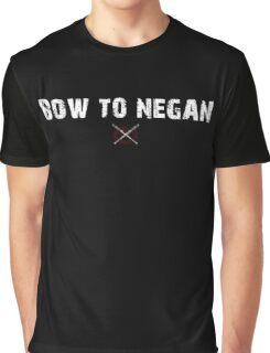 The Walking Dead - Bow To Negan - Grunge Graphic T-Shirt