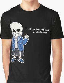Undertale - Sans the Skeleton pun Graphic T-Shirt