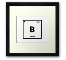 Element Boron Framed Print