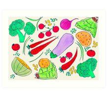 Vegetables!  Art Print