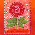 FOR YOU ! - A DREAMING RED ROSE with little Hearts by RubaiDesign