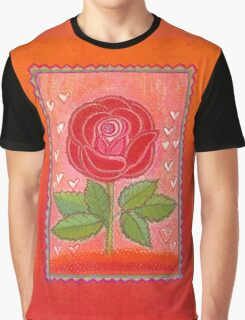 FOR YOU ! - A DREAMING RED ROSE with little Hearts Graphic T-Shirt