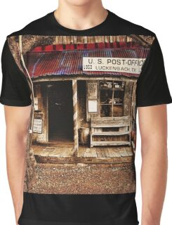 Luckenbach Post Office Graphic T-Shirt