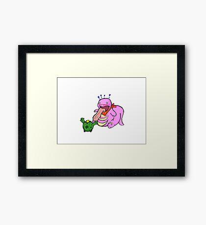 Pokemon: Likitung and Cacnea Framed Print