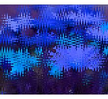 Waves in Blue Photographic Print