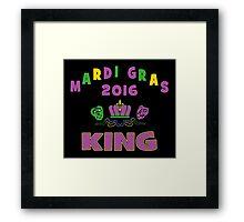 Mardi Gras King 2016 New Orleans NOLA 2016 Framed Print