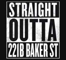 Straight Outta 221B Baker St One Piece - Short Sleeve