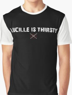The Walking Dead - Lucille Is Thirsty - Grunge Graphic T-Shirt
