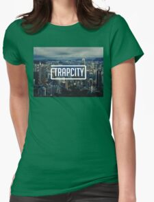Trap City wallpaper Womens Fitted T-Shirt