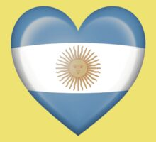 Argentinian Heart Flag Kids Tee
