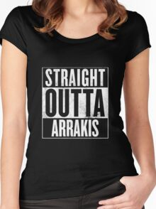 Straight Outta Arrakis Women's Fitted Scoop T-Shirt
