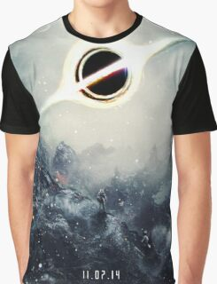 Black Hole Fictional Teaser Movie Poster Design Graphic T-Shirt
