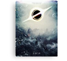 Black Hole Fictional Teaser Movie Poster Design Canvas Print