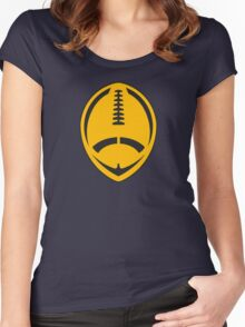 Gold Vector Football Women's Fitted Scoop T-Shirt