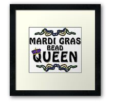 Mardi Gras Bead Queen New Orleans NOLA Framed Print