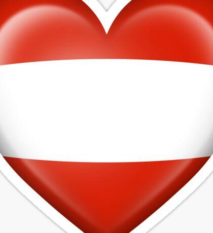 Austrian Heart Flag Sticker