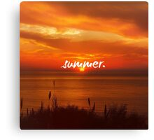 Summer, Motivation Quote at the Sea Canvas Print
