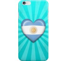 Argentinian Heart Flag iPhone Case/Skin