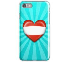 Austrian Heart Flag iPhone Case/Skin